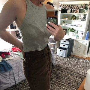 Urban Outfitters Gray high neck tank